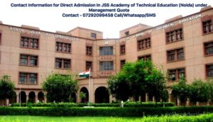 Direct Admission In JSS Academy of Technical Education (Noida)