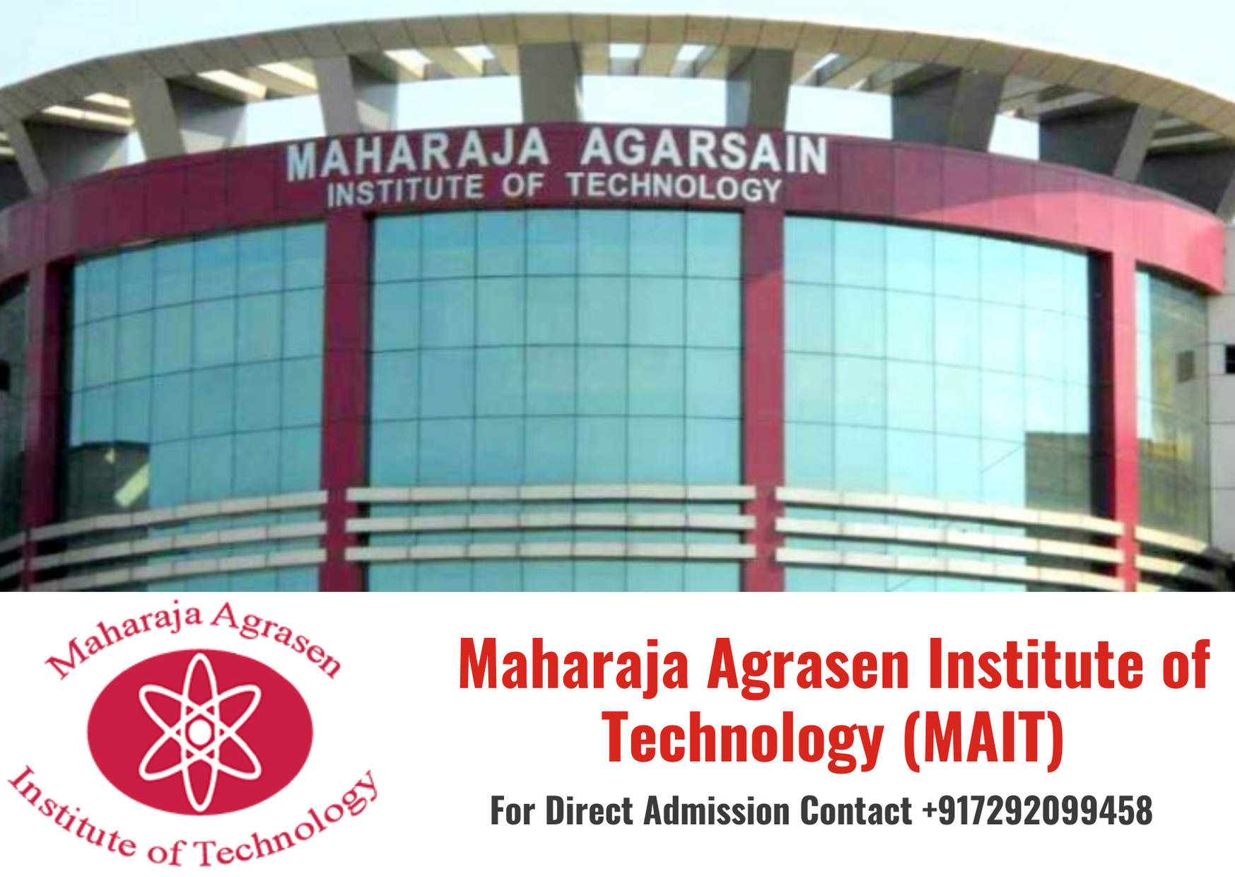 Direct Admission in Maharaja Agrasen Institute of Technology (MAIT), Delhi under Management Quota 2020